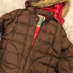 US Polo Association brown winter jacket